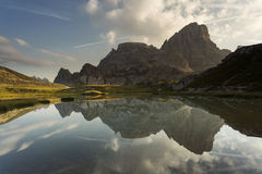 Beautiful landscape near to National Park Tre Cime di Lavaredo. Stock Images