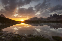 Beautiful landscape near to National Park Tre Cime di Lavaredo. Stock Image