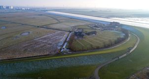 Beautiful landscape in Nordfriesland, Schleswig-Holstein. Germany stock photo