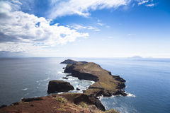 Beautiful landscape at the north coast of Ponta de Sao Lourenco,the easternmost part of Madeira Island Stock Image