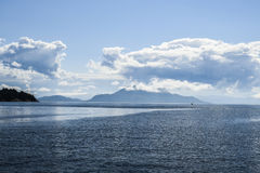Beautiful landscape on the north sea in norway with clouds on a Stock Photos
