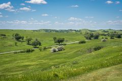 Niobrara state park, Nebraska in spring royalty free stock images
