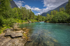 Beautiful landscape of Norway, Scandinavia, Royalty Free Stock Photos