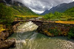 Beautiful landscape of Norway, Scandinavia, Europe Stock Images