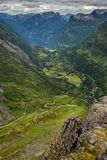Beautiful landscape of Norway, Scandinavia, Geiranger Fiord Royalty Free Stock Photography