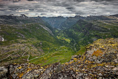 Beautiful landscape of Norway, Scandinavia, Geiranger Fiord Royalty Free Stock Photo
