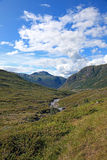 Beautiful landscape of norwegian valley. Stock Photo