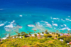 Beautiful Landscape of Oahu,Hawaii. Taken from top of Diamond Head Stock Images