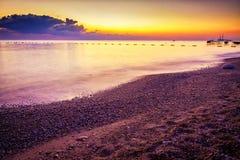 Beautiful landscape. Ocean beach during sunset. Royalty Free Stock Photos
