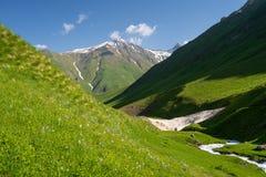 Free Beautiful Landscape Of Juta Valley In Summer Season, Caucasus Mountain Range In Georgia Stock Image - 152105221