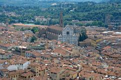 Beautiful landscape of Florence from the Duomo Cupola stock images
