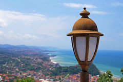 Beautiful Landscape with Old Fashioned Street Lamp Royalty Free Stock Images