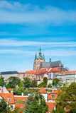 The beautiful landscape of the old town and the Hradcany Prague royalty free stock photo