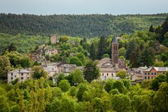 Beautiful landscape of natural reserve park in Cevennes, France Royalty Free Stock Photography