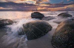 Beautiful landscape over the sea, sunrise shot.  stock images