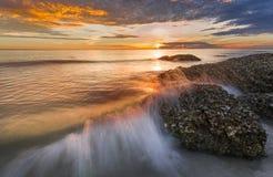 Beautiful landscape over the sea, sunrise shot.  royalty free stock image
