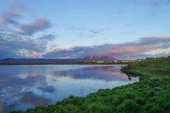Beautiful landscape panorama at Myvatn Lake,Iceland. Stock Photos