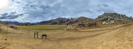 Beautiful landscape panorama view of castle hill in arthur's pas Royalty Free Stock Images