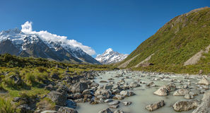 Beautiful landscape panorama view of Mt.cook, south island, New Stock Photos