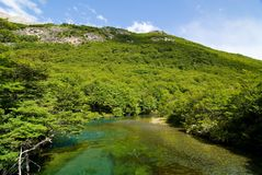 Beautiful landscape in patagonia. Lago del Desierto, Parque Nacional Los Glaciares Royalty Free Stock Photo