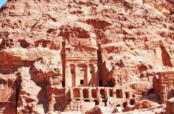 Beautiful landscape of Petra in Jordan. stock photo