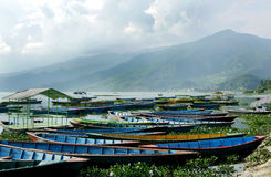 Beautiful landscape of Phewa lake Stock Photos