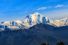 Sunrise view from Poon hill. Beautiful landscape photo of Dhaulagiri mountains from Poon hill royalty free stock photos