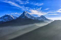 Sunrise view from Poon hill royalty free stock images