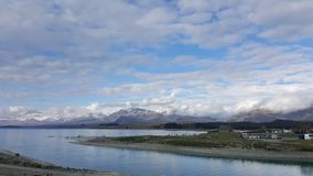 Lake Tekapo in New Zealand stock photos