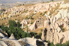 Beautiful landscape at Pigeon valley, in Cappadocia, Turkey Royalty Free Stock Photos