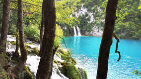 Beautiful landscape in the Plitvice Lakes Stock Photography