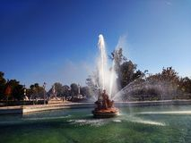 Beautiful landscape of the pond in Aranjuez, Spain. royalty free stock photo