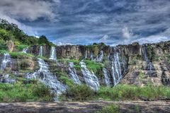 Beautiful landscape of Pongour waterfall, Lam Dong, Viet Nam Royalty Free Stock Images