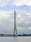 Beautiful Landscape Rama VIII Bridge amazing in Bangkok Royalty Free Stock Image