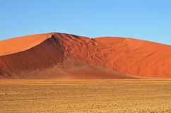 Sossusvlei, Namib Naukluft National Park, Namibia. Beautiful landscape with red dunes at sunrise, Sossusvlei, Namib Naukluft National Park, Namibia, Africa Royalty Free Stock Photos