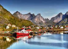 Lofoten, Reine Village Stock Photo