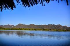 Beautiful landscape reservoir with blue sky Stock Image