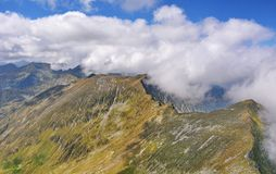 Beautiful landscape ridge in Fagaras Mountains Royalty Free Stock Photo