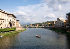 Beautiful landscape of river Arno in Florence, Italy Royalty Free Stock Image