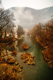 Beautiful landscape with river Cerna Stock Photography