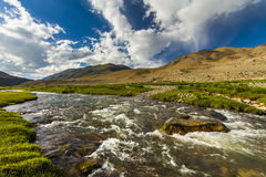 Beautiful landscape with river, mountains Royalty Free Stock Photography