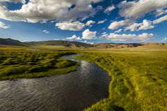 Beautiful landscape with river, mountains Stock Image