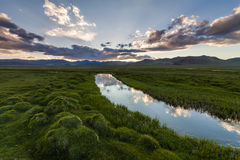 Beautiful landscape with river, mountains Royalty Free Stock Photos