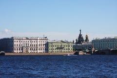 Beautiful landscape on the river Neva Stock Photo
