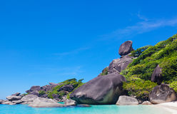 Similan islands, Thailand. Beautiful landscape with the rock Sail on Similan islands, Thailand Royalty Free Stock Photos