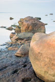 Beautiful landscape of rocks in The Baltic Sea Royalty Free Stock Photo