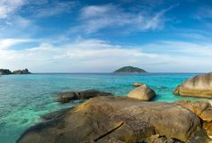 Landscape with rocks on Similan islands. Beautiful landscape with rocks on Similan islands, Thailand Royalty Free Stock Photos