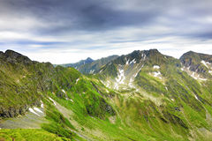 Beautiful landscape from the rocky Fagaras mountains. In Romania in the summer Stock Photos