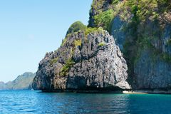 Beautiful landscape of rocky island near Palawan Royalty Free Stock Image