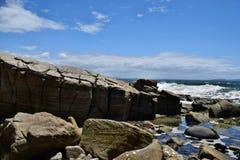 Noosa National Park. Beautiful landscape rocky, Noosa Heads, Sunshine Coast, Australia stock photography